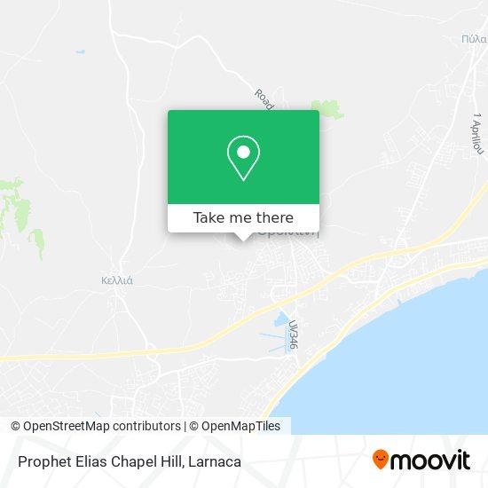 Prophet Elias Chapel Hill χάρτης