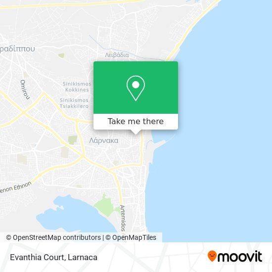 Evanthia Court χάρτης