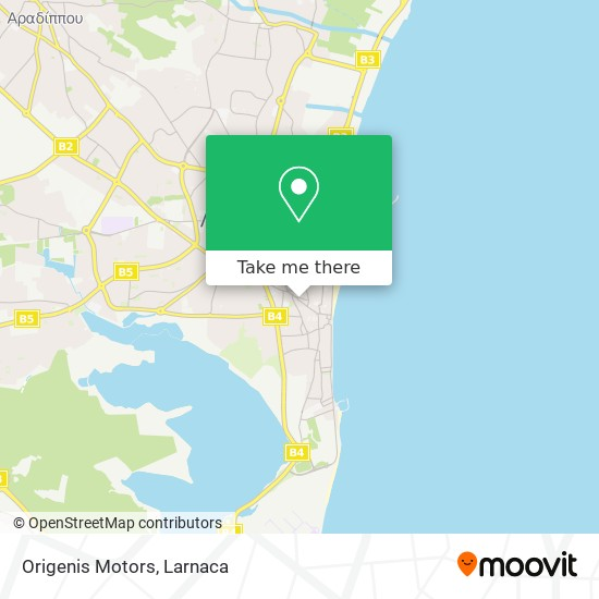 Origenis Motors χάρτης