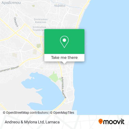 Andreou & Mylona Ltd χάρτης