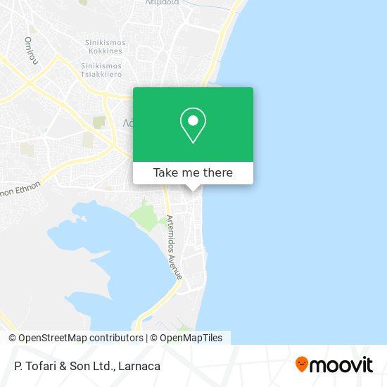 P. Tofari & Son Ltd. χάρτης