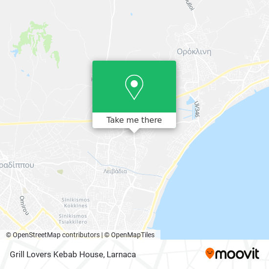 Grill Lovers Kebab House χάρτης