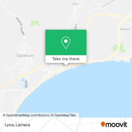 Lysia χάρτης