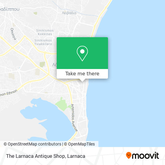 The Larnaca Antique Shop χάρτης