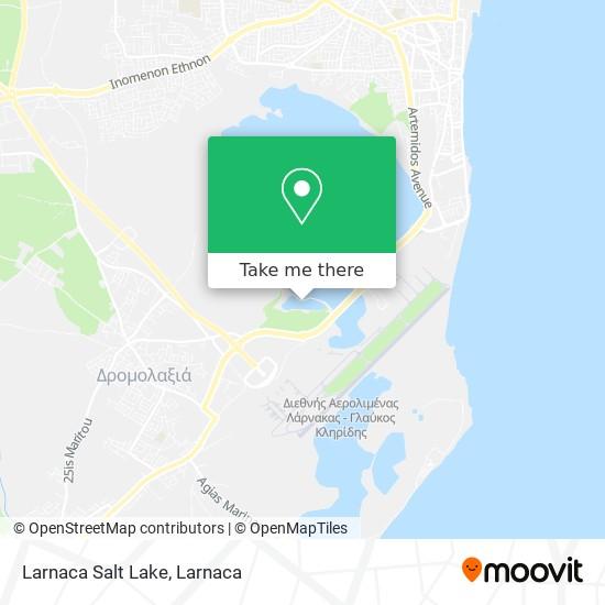 Larnaca Salt Lake χάρτης