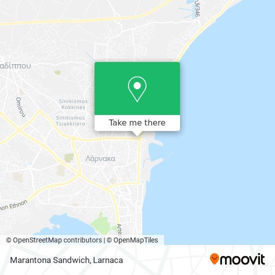 Marantona Sandwich χάρτης