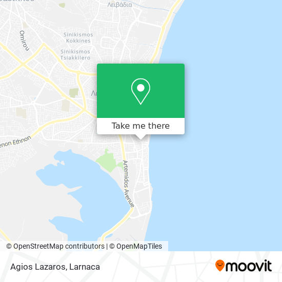 Agios Lazaros χάρτης