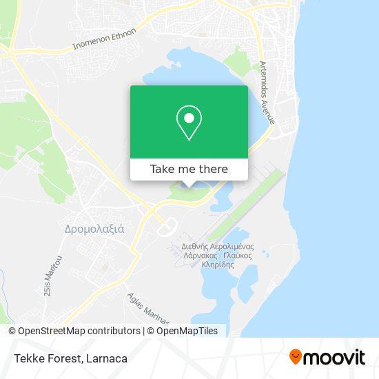Tteke Forest χάρτης