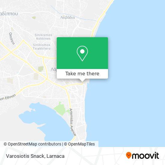 Varosiotis Snack χάρτης
