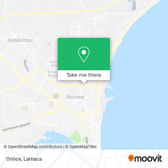 Orinos χάρτης