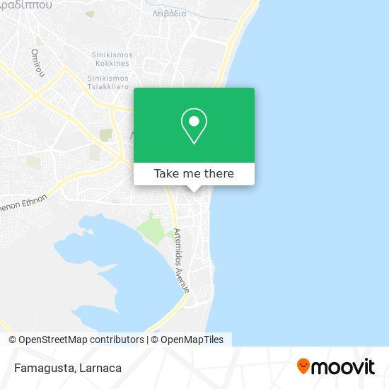 Famagusta χάρτης