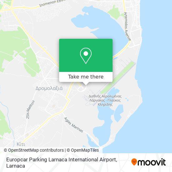Europcar Parking Larnaca International Airport χάρτης