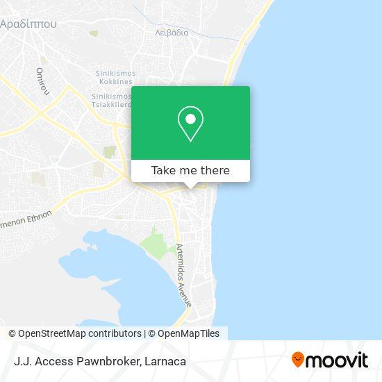 J.J. Access Pawnbroker χάρτης