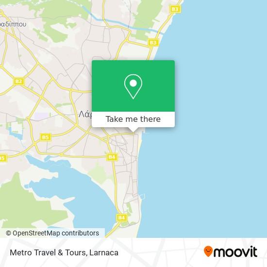 Metro Travel & Tours χάρτης