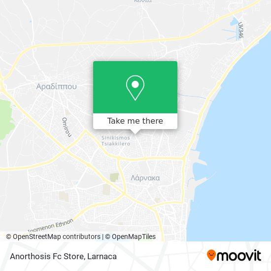 Anorthosis Fc Store χάρτης