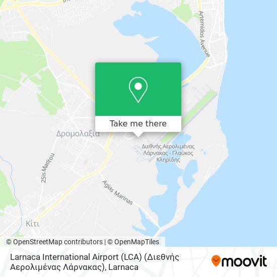 Larnaca International Airport (LCA) (Διεθνής Αερολιμένας Λάρνακας) χάρτης