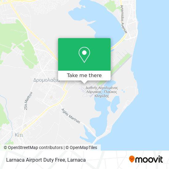Larnaca Airport Duty Free χάρτης