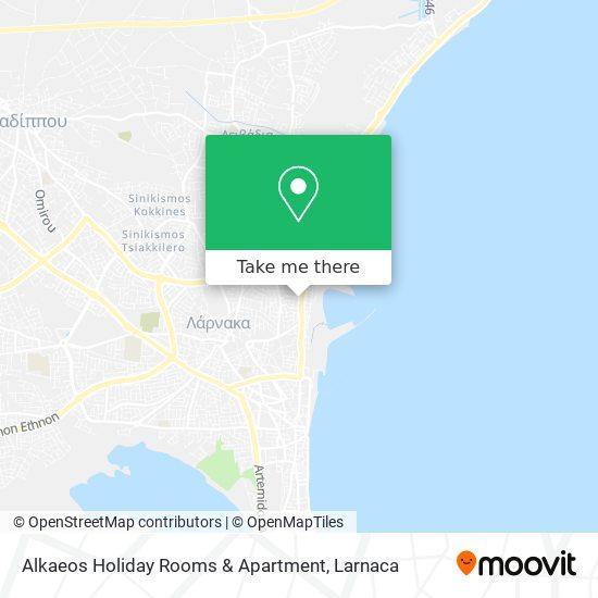 Alkaeos Holiday Rooms & Apartment χάρτης