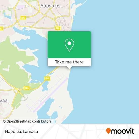 Napolea χάρτης
