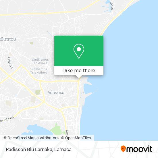 Radisson Blu Larnaka χάρτης