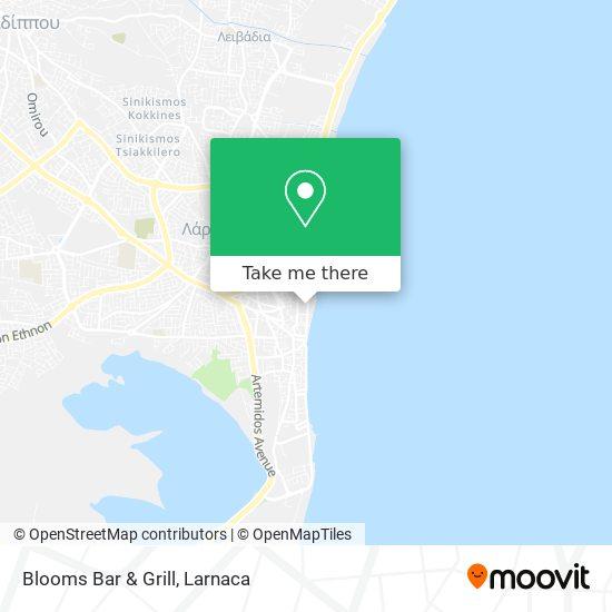 Blooms Bar & Grill χάρτης