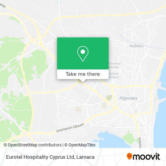 Eurotel Hospitality Cyprus Ltd χάρτης