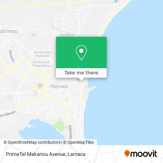 PrimeTel Makariou Avenue χάρτης