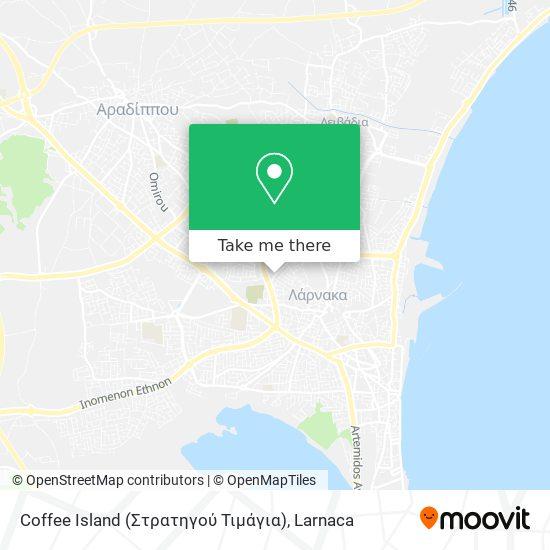 Coffee Island (Στρατηγού Τιμάγια) χάρτης