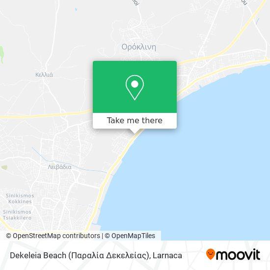 Dekeleia Beach (Παραλία Δεκελείας) χάρτης