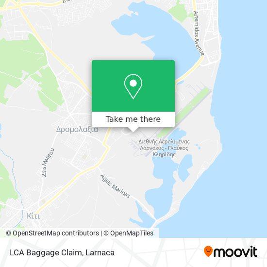 LCA Baggage Claim χάρτης