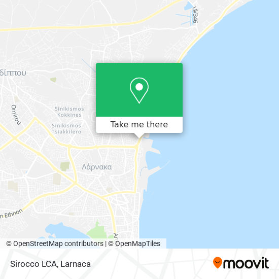 Sirocco LCA χάρτης