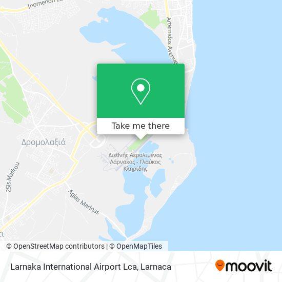 Larnaka International Airport Lca χάρτης