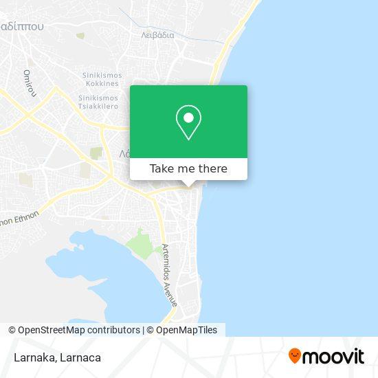 Larnaka χάρτης