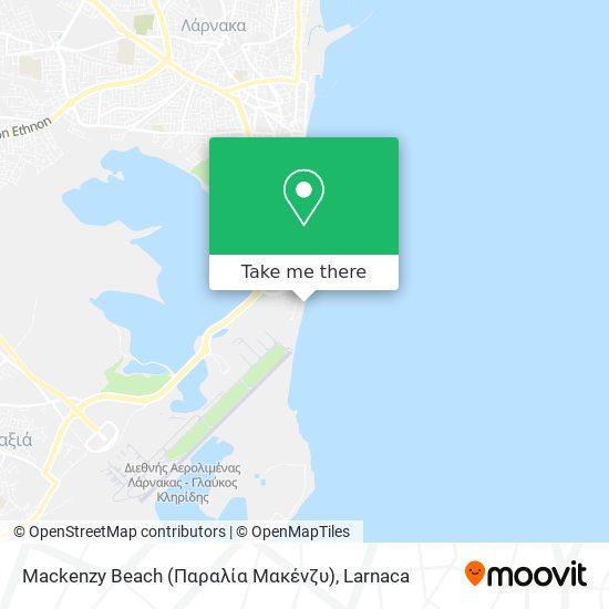 Mackenzy Beach (Παραλία Μακένζυ) χάρτης