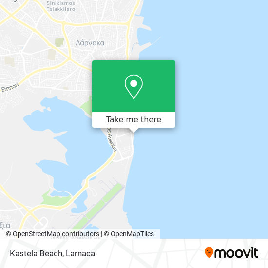 Kastela Beach χάρτης