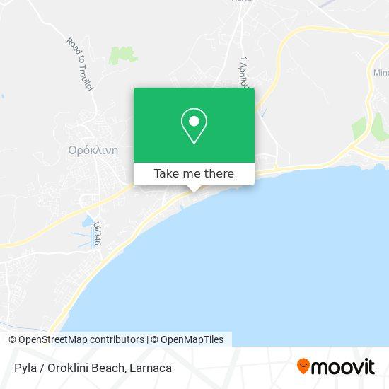 Pyla / Oroklini Beach χάρτης