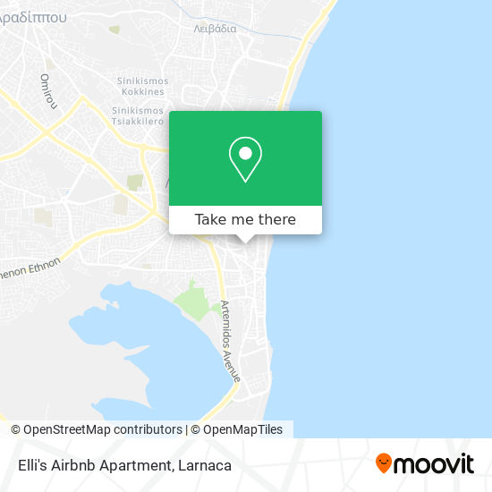 Elli's Airbnb Apartment χάρτης