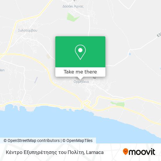 Κέντρο Εξυπηρέτησης του Πολίτη χάρτης