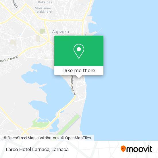 Larco Hotel Larnaca χάρτης