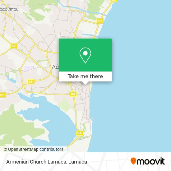 Armenian Church Larnaca χάρτης