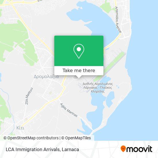 LCA Immigration Arrivals χάρτης