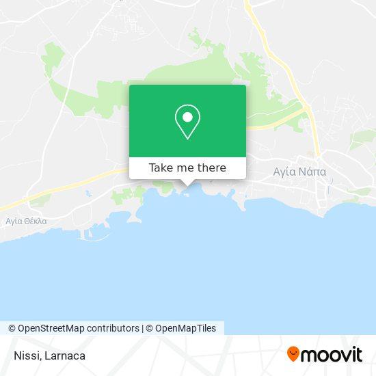 Nissi Beach χάρτης