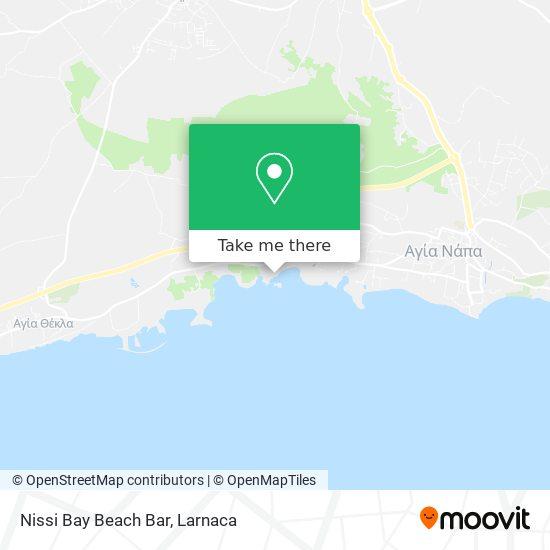 Nissi Bay Beach Bar χάρτης