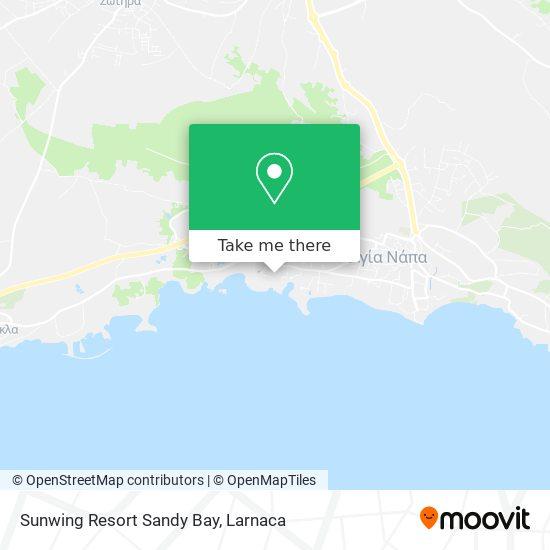 Sunwing Resort Sandy Bay χάρτης