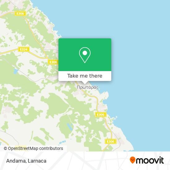 Andama χάρτης