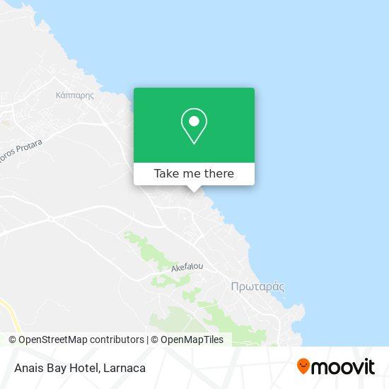Anais Bay Hotel χάρτης