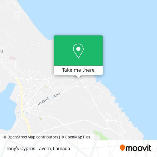 Tony's Cyprus Tavern χάρτης