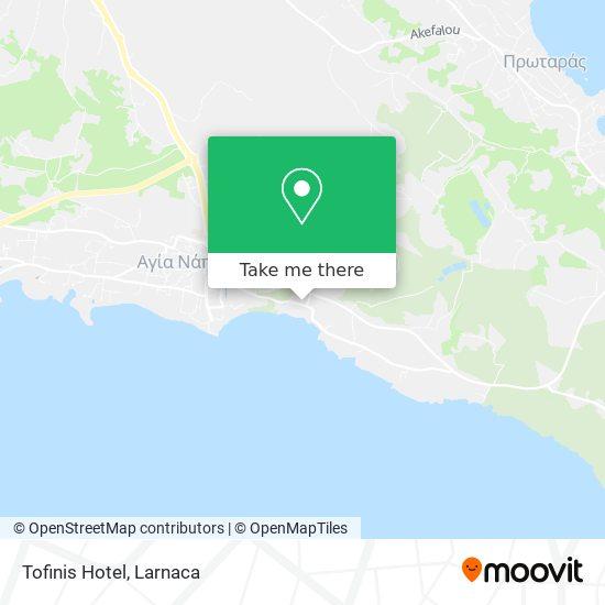 Tofinis Hotel χάρτης