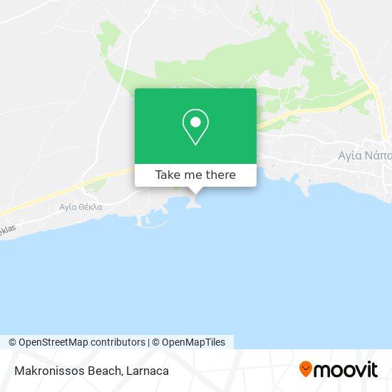 Makronissos Beach χάρτης