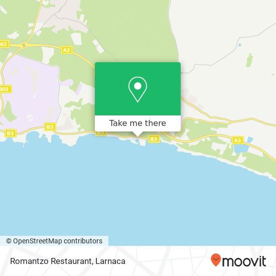 Romantzo Restaurant χάρτης
